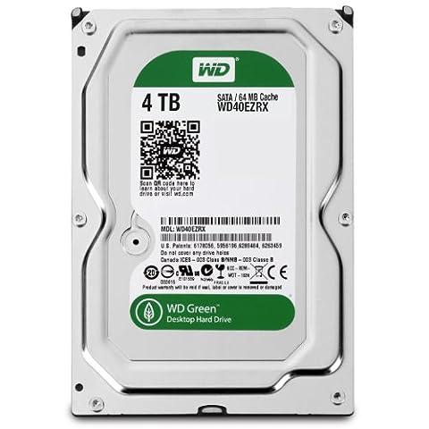 Western Digital WD40EZRX Caviar Green interne-Festplatte 4TB (8,9 cm (3,5 Zoll), 64MB Cache, SATA