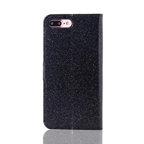 Custodia per iPhone 5 5S SE 4 Cover in Pelle Portafoglio, Funyye Lusso Eleganza [Diamante Perla] Design Incorporare Affascinante Flip Wallet Case Bello Scintillante PU Leather Shell Skin Bumper + 1 x #4 Nero