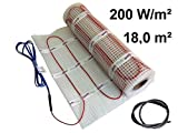 EXTHERM Doppio Tappetino a Riscaldamento con Cavo Elettrico a Pavimento Per Riscaldamento- 200w/18m²(2x9m²)- Installazione- Calore Confortevole In Tutto Il Tuo Appartamento- Soluzione ad Energia Rinnovabile