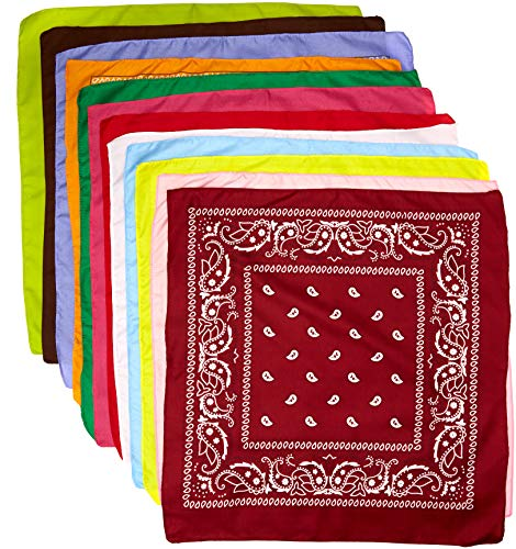 Price comparison product image 12 Assorted Color Bandannas
