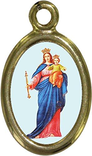 Ferrari & Arrighetti Medalla María Auxiliadora de Metal Dorado y Resina - 2,5 cm