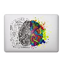 Caroki New Art Removable Vinyl Decal Sticker Skin for Apple Macbook (Brain 1)