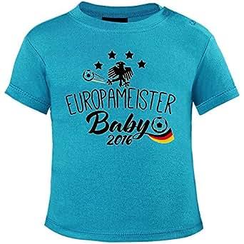 Mikalino Baby T-Shirt Europameister Baby 2016 v2 kurzarm