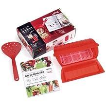 Lékué 3404503R10M550 - Kit de accesorios para papillote (silicona, 28 x 18 x 8,5 cm), color rojo [Importado]