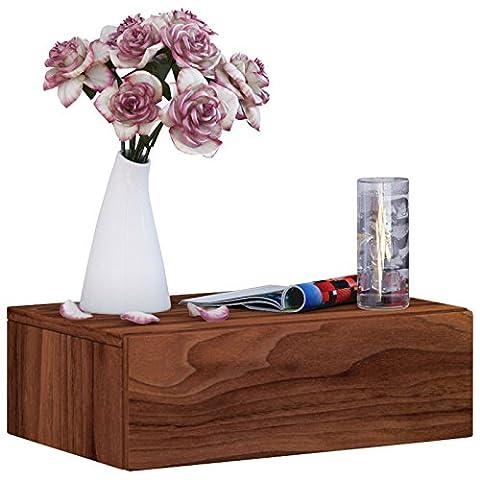 VCM Blado-1 Wall Drawer/Shelf/Reck/Hall Furniture, White Core Walnut