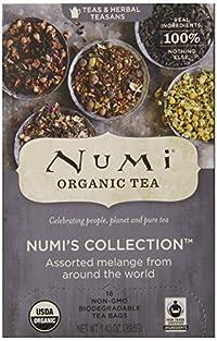 Numi Organic Tea Variety Pack - Numi's Collection, Assorted Full Leaf Tea and Teasan, 18 Count Tea Bags
