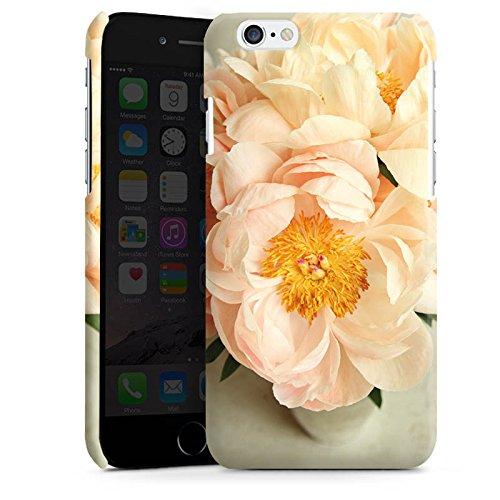 Apple iPhone 5s Housse Étui Protection Coque Fleurs Fleurs Jaune Cas Premium brillant