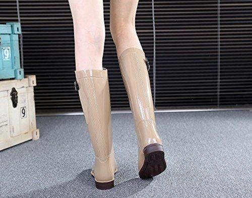 PVC Antiscivolo Resistente all'usura Moda Stivali da pioggia Khaki