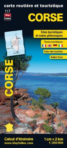 Corse, carte régionale, routière et touristique