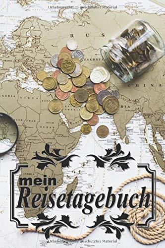 """mein Reisetagebuch: \""""Fernglas\"""" zum Selberschreiben, Selbstgestalten und Ausfüllen. inkl. Urlaubs-Checkliste, Weltkarte und Reise Tipps gegen Jetlag. Tagebuch, Reisebuch oder als Geschenk."""