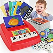 AM ANNA Matching Letter Game, Alphabet Reading & Spelling, Words & Objects, Number & Color Recogni