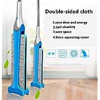 Balai d'essuyage à double face mains-libres polyvalent Balai d'essuyage statique avec une lingette humide ou sèche