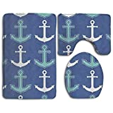 Best Black Diamond Shower Tiles - New Nautical Anchor Pattern Navy Blue and Teal Review