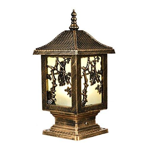 Pfostenlaterne-Spalte beleuchtet zeitgenössische Sammlung äußere Pfosten-Lichter imprägniern LED-Birnen-Zaun-Licht-Form-Aluminium-im Freienpfosten-Beleuchtungs-Dekorsäule-helles Yard-Licht (19cm * 19cm * 43cm)