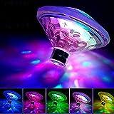 Yunt Luci a LED per piscine impermeabili, luci galleggianti per laghetto LED per vasche idromassaggio, vasche per bambini, fontane, feste in discoteca o decorazioni per laghetti.