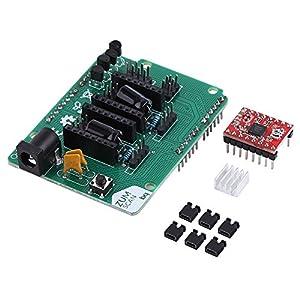 ZUM Scan-Erweiterungskarte + A4988 Schrittmotor Treiber mit Kühlkörper für Arduino 3D Drucker