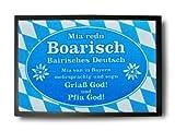 Die witzige Fußmatte - bairisches Deutsch / bayrisches Deutsch