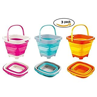 TOP RACE Fold-able Buckets (2 litres Square)