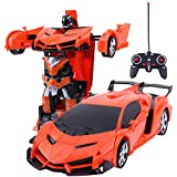 Amitasha Battery Operated 2in1 Transformer RC Robot Car Toy (Multicolor)