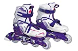 Street-Teens CSL16MD33 Rollers en Ligne réglable Fille, Blanc