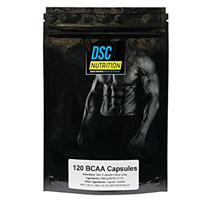 60 x 500mg BCAA Branched Chain Amino Acid CAPSULES, 2:1:1, By DSC NUTRITION, SPECIAL OFFER PRICE, 100% MONEY BACK GUARANTEE! from DSC NUTRITION