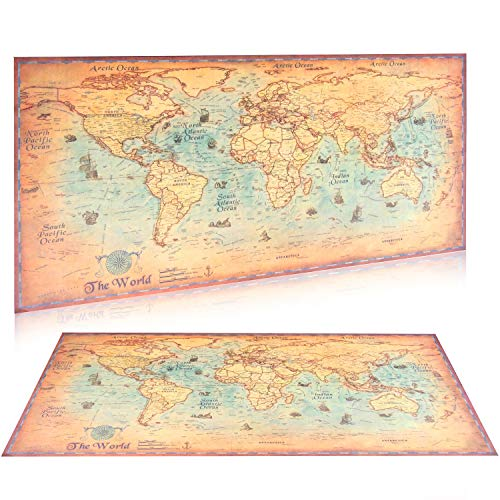 Large vintage world map kraft paper paint retro navigation ancient large vintage world map kraft paper paint retro navigation ancient sailing map wall poster living room gumiabroncs Gallery