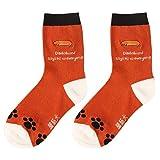 Unisex amantes creativos patrón de calcetines para perros perro calcetines de algodón de dibujos animados Dachshund y Naranja y Negro