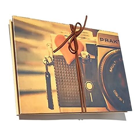 Album Photo, Style Accordéon Album de Scrapbooking Vintage, Livre Photo de Mémoire pour Bébé Pages Café, Livre de Croquis/Livre D'or, Cadeau pour Fête des Mères Anniversaire Naissance Mariage, pour Maman Femme Homme, Appareil photo