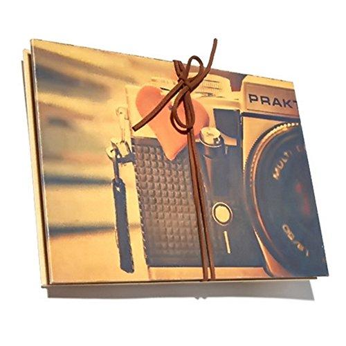 Scrapbook Album, Akkordeon Stil Vintage DIY Fotoalbum, Retro Fotobuch, Portable Sketchbook, Hochzeit Gästebuch, Photo Book für Muttertagsgeschenk/Hochzeit Geburtstagsgeschenk/Jahrestag Geschenk, für Frauen Männer Freundin Mama Papa (Kamera, Kaffee - Für Junge Gute Erwachsene Halloween-bücher