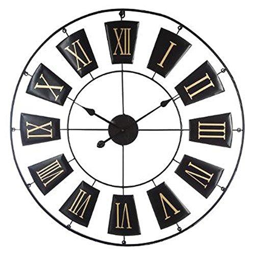 Paris Prix - Horloge Murale Design antica 76cm Noir