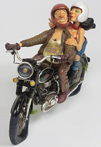 Exciting Motorcycle Ride Figurine The Comic Art Of Guillermo Forchino 10 1/2 Inch Long by Guillermo Forchino