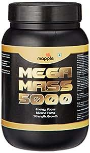 GRF Ayurveda Mega Mass 5000 Whey Protein Supplement - 300 g (Chocolate)