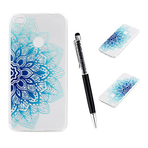 P8 Lite 2017 Funda  SsHhUu Hybrid Totem Light Weight Flexible Durable Transparent Ultra Slim Soft TPU Gel Silicone Protective Rear Skin Cover Funda pa