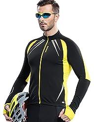 Santic de Ciclismo Running Cortavientos Windstopper Transpirable Señales Reflectantes para Hombre