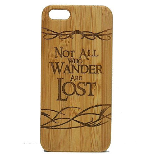 Not All Who Wander Are Lost iPhone 7 Fall. Nomad persönlich imakethecase Marke. Bambus Holz Cover. Herr der Ringe (Iphone 6 Fall Herr Der Ringe)