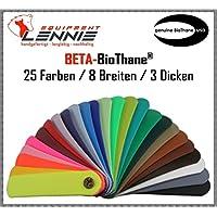 Beta-BioThane® Meterware / ca. 3,8 mm dick (Super Heavy) / 13 - 50 mm Breite [25 mm] / 11 Farben [Schwarz]