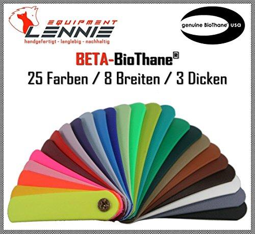 BioThane® Beta Meterware/ca. 2,5 mm dick (Standard) / 9-50 mm Breite [9 mm] / 25 Farben [Kiwigrün]