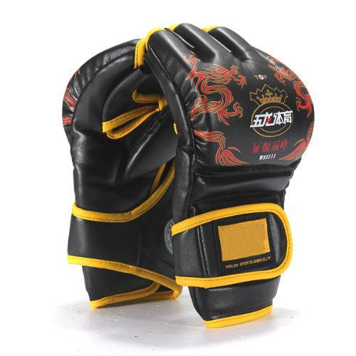 Well-Goal -Boxhandschuhe für Sparring PU Leder MMA UFC Fight Grappling Ultimate