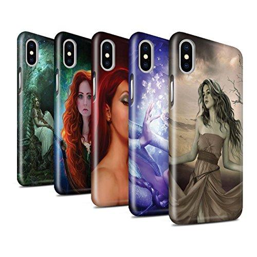 Offiziell Elena Dudina Hülle / Glanz Snap-On Case für Apple iPhone X/10 / Notre Dame Muster / Märchen Charaktere Kollektion Pack 5pcs