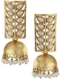 The Jewelbox Gold-Plated Jhumki Earrings For Women