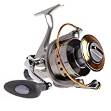 Yoshikawa Carp Fishing Reel Spinning Stainless Steel Reel Baitrunner Aluminum Spool Handle 11 Ball Bearings 3000-6000 5.5:1