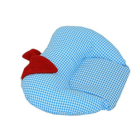 Kuber Industries Mustard Seeds (Rai) Pillow - Apple Shape (Cotton),Sky Blue -
