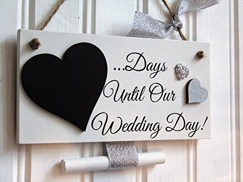 handmade-wedding-countdown-plaque-with-chalkboard-heart-engagement-gift-days-until-our-wedding-day-s
