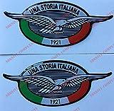Logo Aufkleber Moto Guzzi, Eine italienische Geschichte, 2 Aufkleber in 3D-Optik. Für Tank oder Helm.