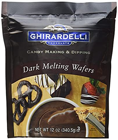 Ghirardelli Candy Making & Dipping, Dark Chocolate Melting Wafers, 12Oz Bag (Pack Of 2)