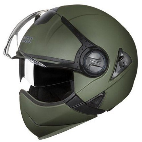 Studds Full Face Helmet Downtown (Military Green, L)