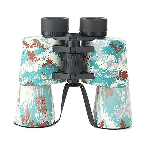 GAO-WJ HD-Prismenfernglas für Erwachsene, 10x50 Dachkant-Kompaktfernglas Weitwinkel wasserdicht für Vogelbeobachtung, Beobachtung und Sternenbeobachtung, Jagd (Color : Mehrfarbig)