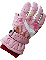 Girls Kids Toggle Windproof Waterproof Thermal Warm Padded Gloves Outdoor Sports Gloves Cycling/Biking/Snowing/Skiing Gloves