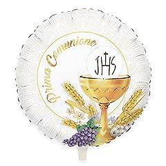 Idea Regalo - Big Party- Palloncino Mylar Prima Comunione, Multicolore, Ø 45 cm, 42392