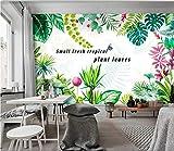 (360X280CM0, Alte Zeitung 3D tapete - Nordic minimalistische kleine frische tropische Pflanze Bananenblatt - Wallpaper Poster Wanddekoration von Bestwind